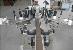 seperating bottle and pressing deivce of labeling machine