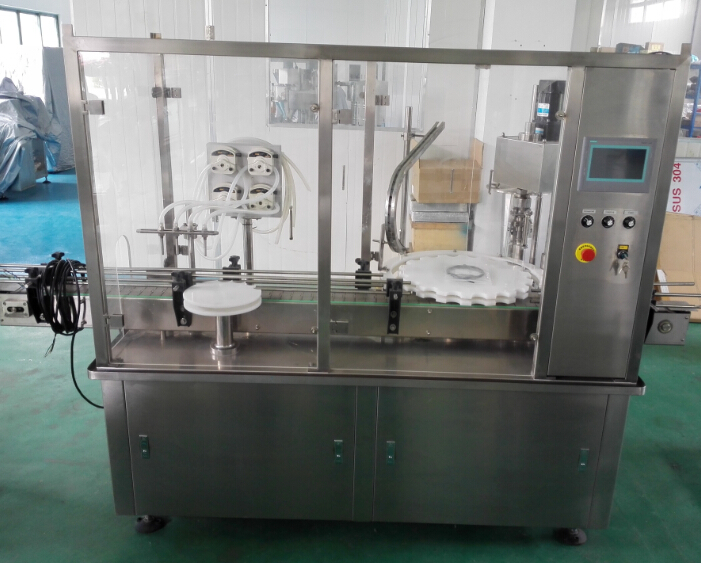 filling and capping machine with safty door