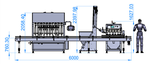 filling machine and capping machine